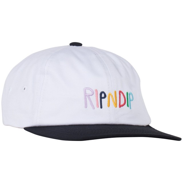 RIPNDIP Multi 6 Panel Strapback (White)