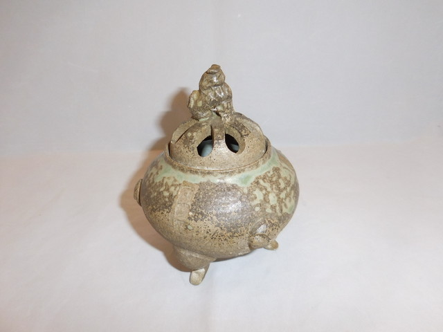 銅香炉 copper and multi-metal incense burner