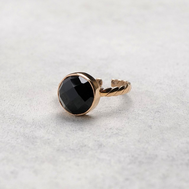 SINGLE STONE ADJUSTABLE RING 025
