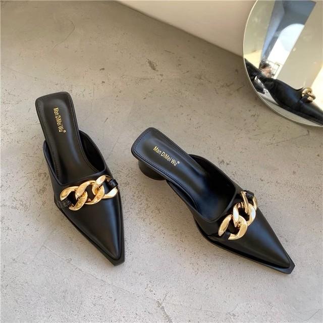 gold chain sandals