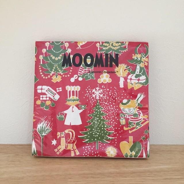 完売再入荷【ムーミン】ランチサイズ ペーパーナプキン CHRISTMAS MOOMIN レッド 20枚入り