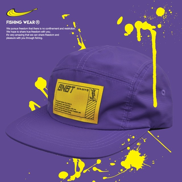 【Banana Bait】W/R Camp Cap Waterproof Fishing Hat / Purple