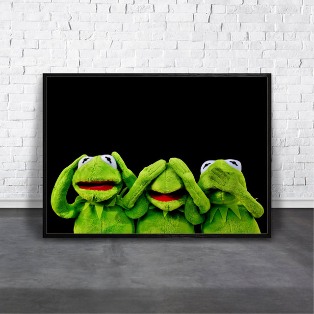 アートポスター Kermit,see no evil, hear no evil, speak no evilデザイン