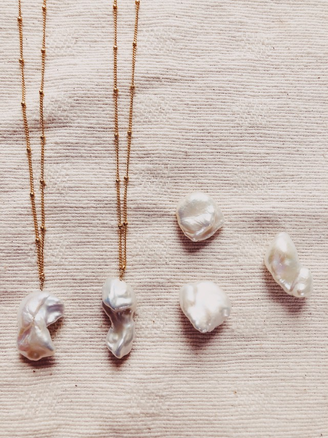 Fresh Water Pearl Necklace 淡水パールネックレス