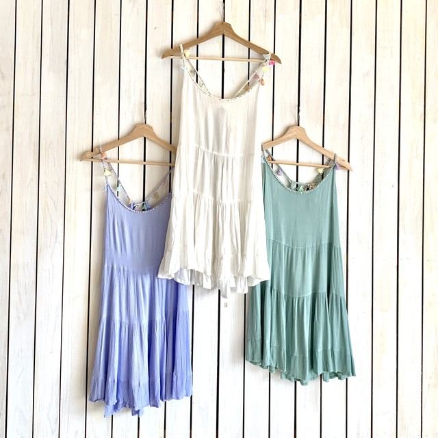 Cover Up Dress タッセル付きワンピース