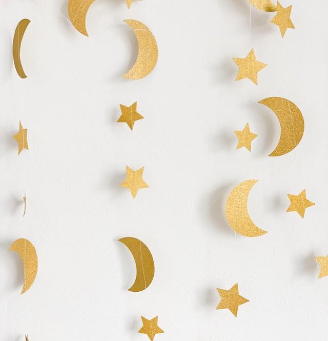 三日月と星のガーランド パーティー デコレーション
