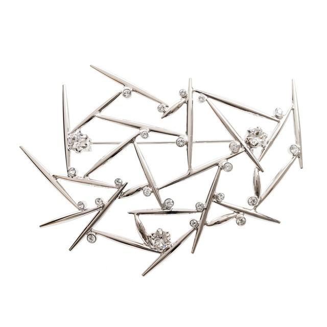 neuron/all silver ブローチ