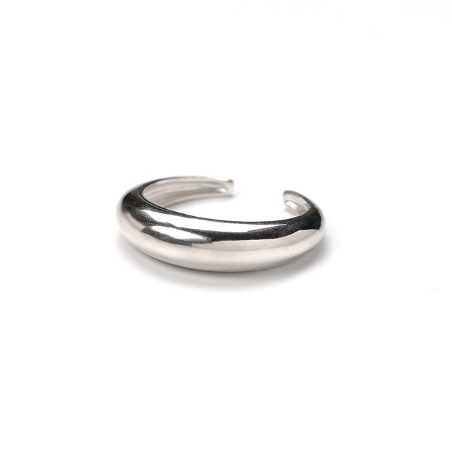 S925 THICK ARC RING SILVER