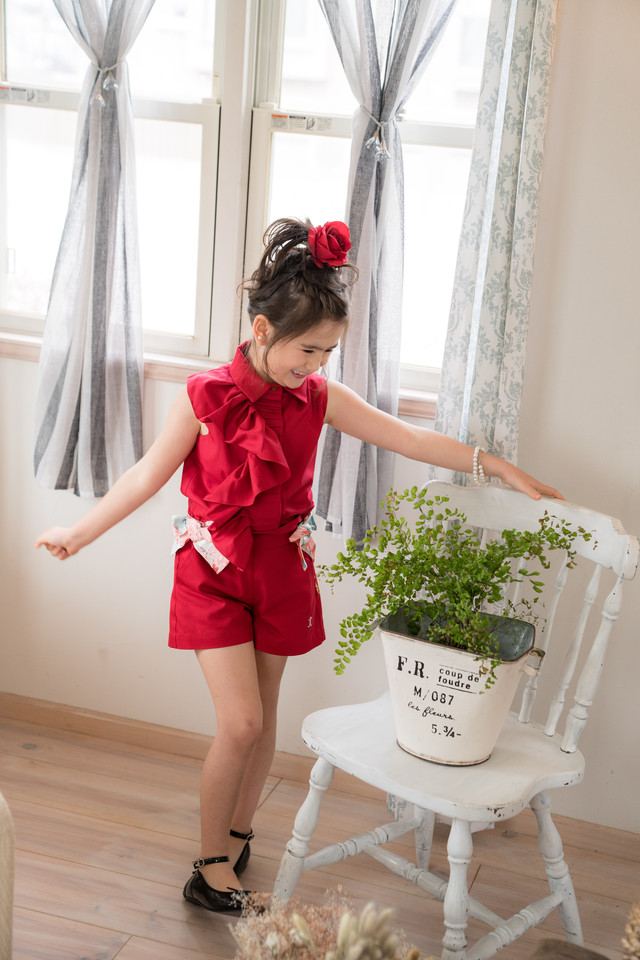 【NEW】EDEN BLOUSE ROYAL RED