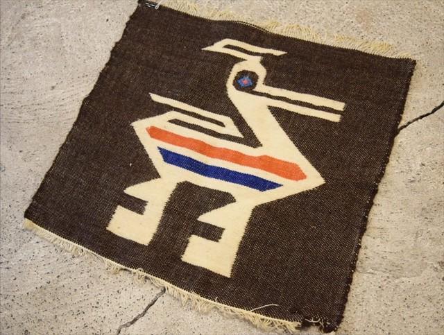 USED  vintage rug 60s G0268