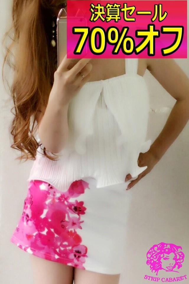 ¥3780→¥1134 ハーフフラワータイトSK【6328】ピンク