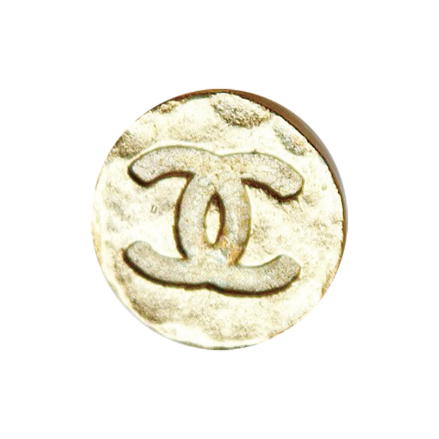 【VINTAGE CHANEL BUTTON】 ゴールドミニ 凸凹 ココマーク ボタン 20mm C-20098