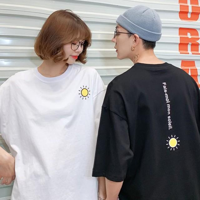 【トップス】韓国系シンプルプリントアルファベットルーズカップルTシャツ27011444