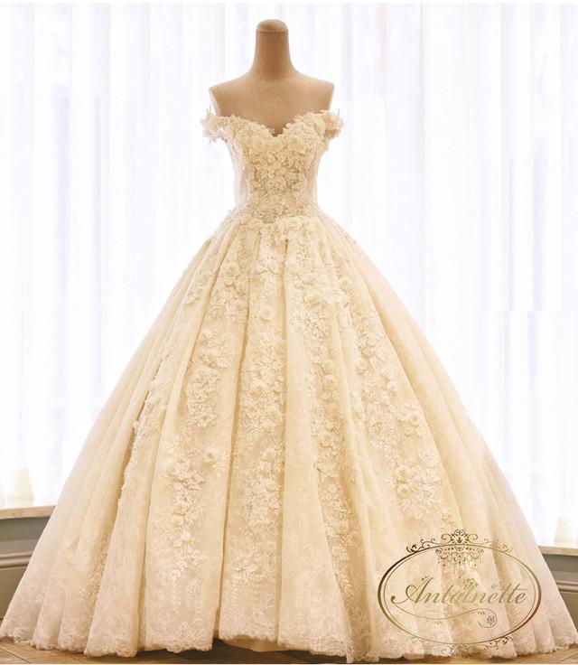 ディングドレス 結婚式 結婚 ドレス aライン 格安 ロングドレス ホワイト ビジュー 格安 ANKD242