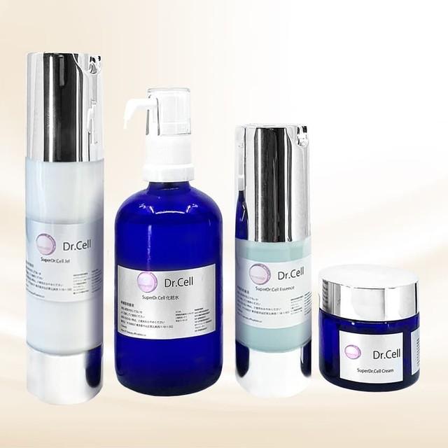 ≪SuperDr.Cell≫高濃度化粧品4点SET(化粧水&エッセンス&ジェル&クリーム)