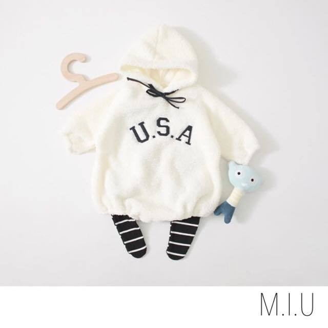 U.S.A.モコモコロンパース #MIU633