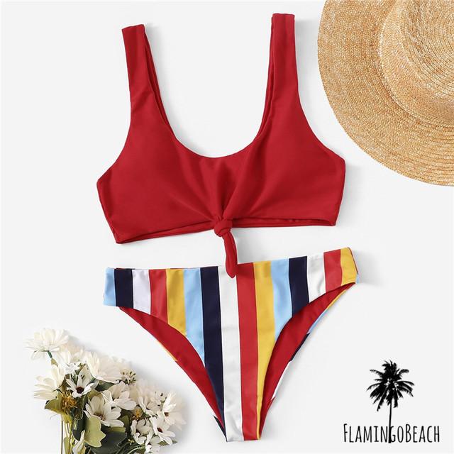 【FlamingoBeach】colorful tankini タンキニ 23371