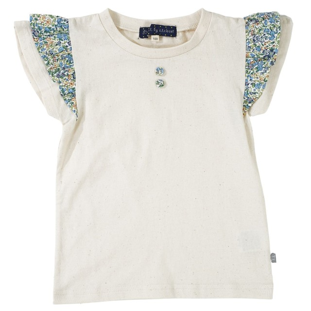 Little s.t. by s.t.closet フリルTシャツ