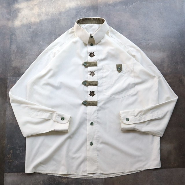 White Tyrolean design shirt