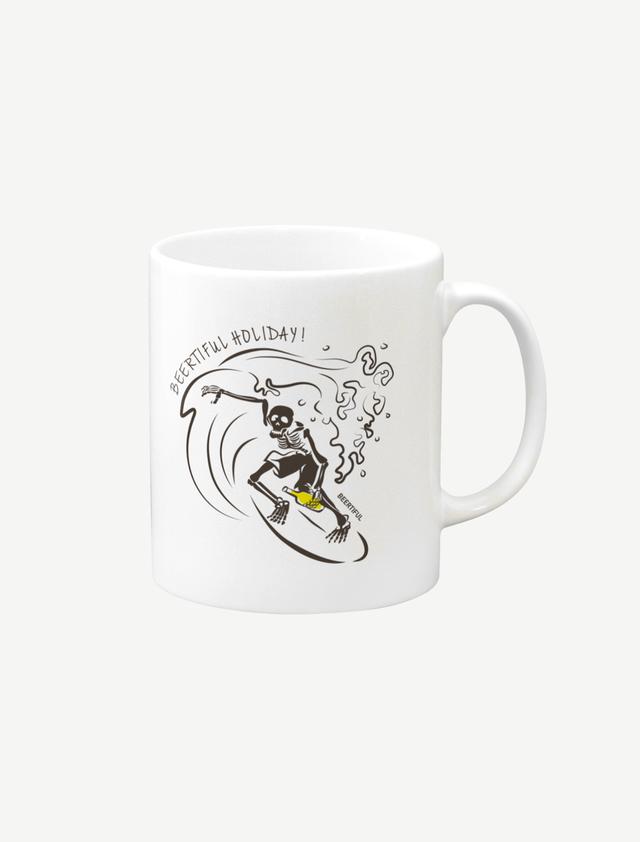 【サーフィンガイコツ】マグカップ