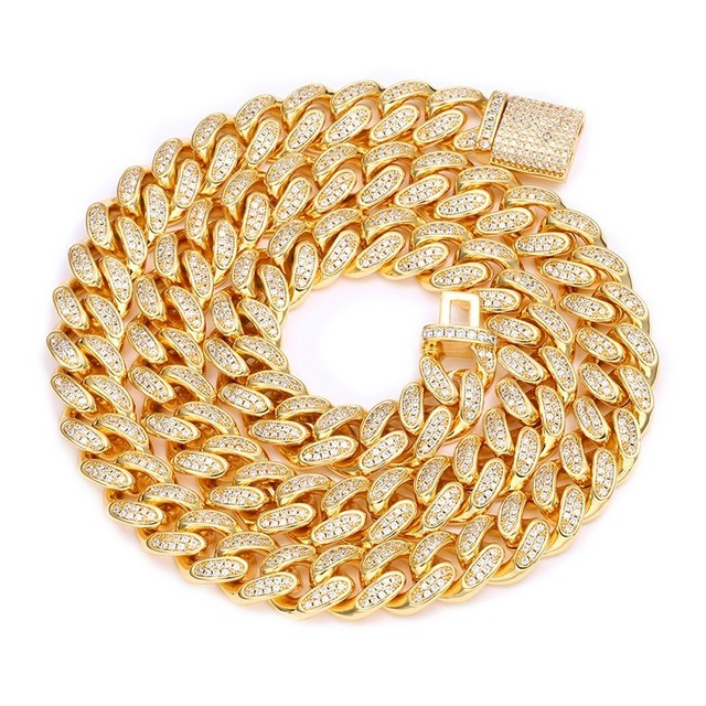 s925 Iced Out Cuban Link Necklace