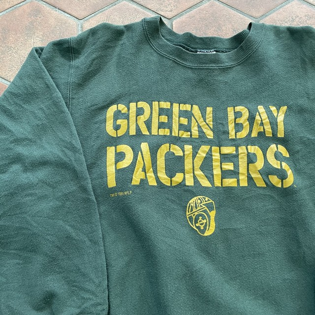 90s champion reverse-weave packers デザインスウェット