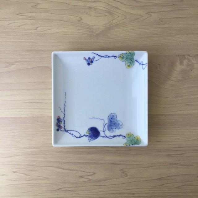【有田焼】パステルぶどう ベース取皿