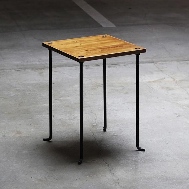 カフェテーブル アイアン家具 ブラウン色