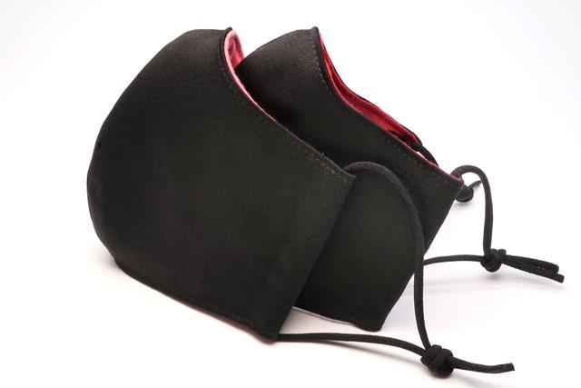 【裏地2色】洗える黒い布マスク【男女兼用】