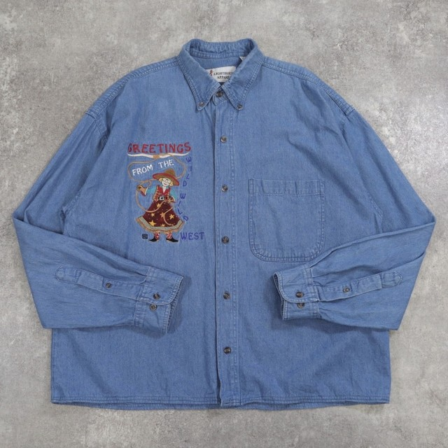embroidery denim design shirt