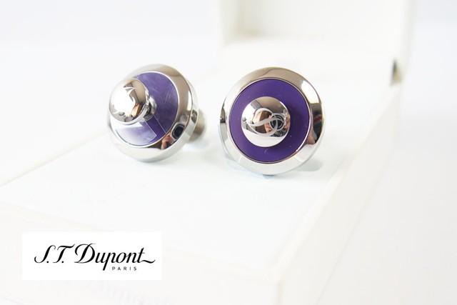 エス・テー・デュポン|S.T. Dupont|カフス|JETONコレクション|ジェットオン|リバーシブルカフリンクス|パープル