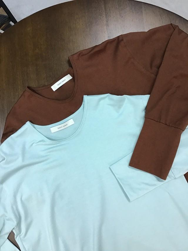 ippei takei【イッペイタケイ】rib long T shirts choco/mint