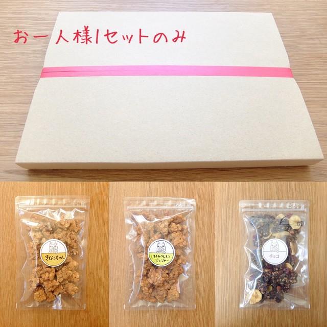 ネコポスSET「きなこちゃん(小)」「はちみつレモンジンジャー(小)」「チョコ(小)
