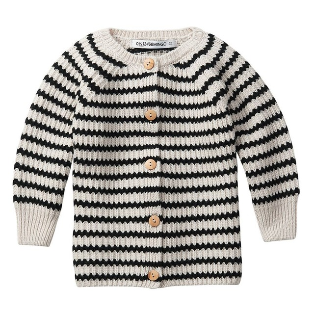 MINGO. / BABY CARDIGAN[Stripes Black/White]
