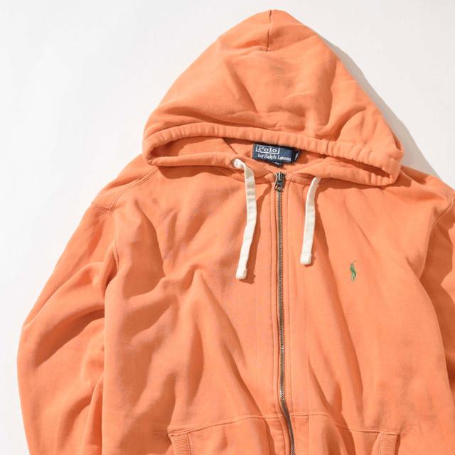 【XLサイズ】POLO ポロラルフローレン PONY ZIP HOODIE ポニージップフーディー ORANGE オレンジ XL 400605191001
