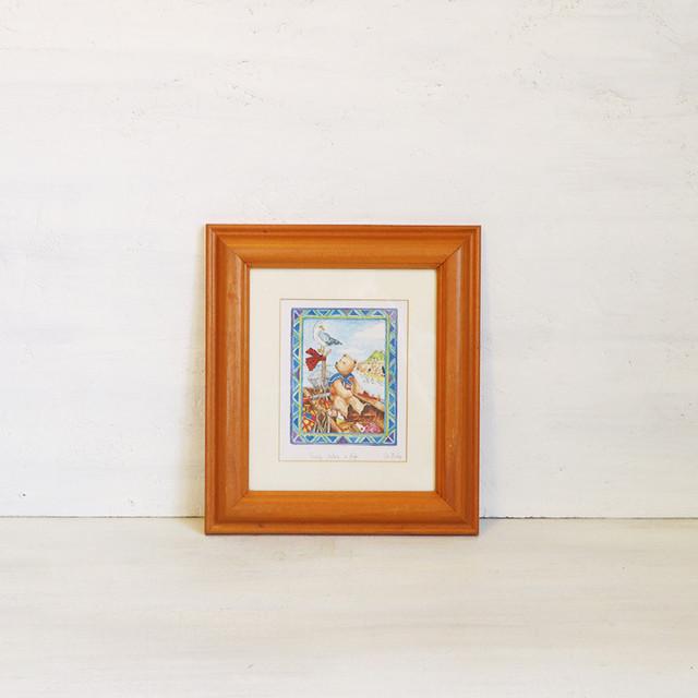 【R-377】Liz Bishop 旅するクマの絵画