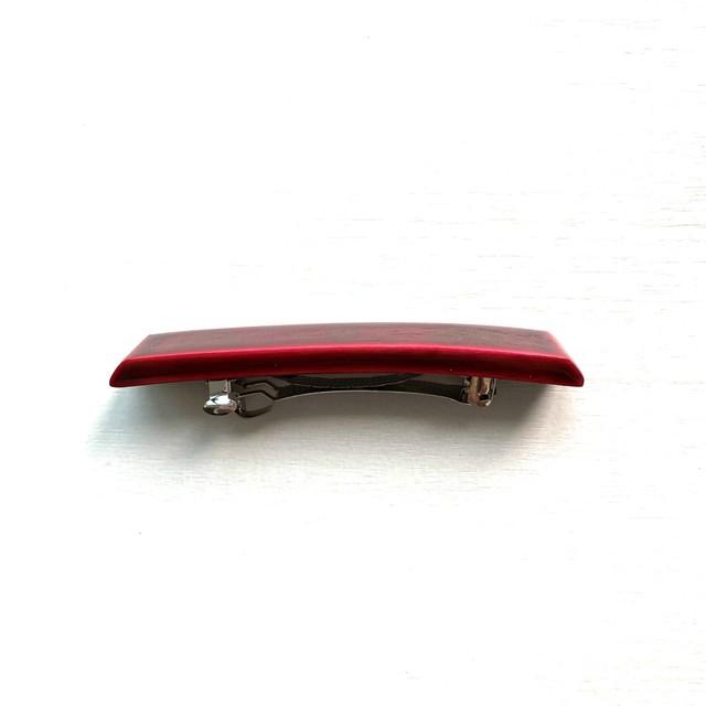 飛騨春慶塗 バレッタ mini 紅箔(B008)