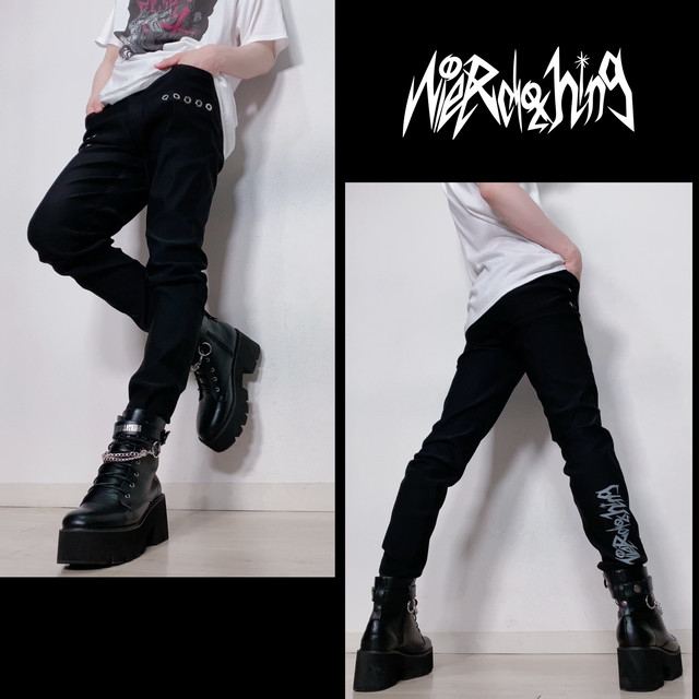BLACK STYLISH PANTS【NieR clothing】