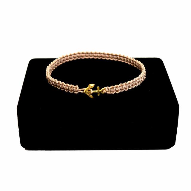 【無料ギフト包装/送料無料/限定】K18 Gold Anchor Bracelet / Anklet Beige【品番 17S2010】