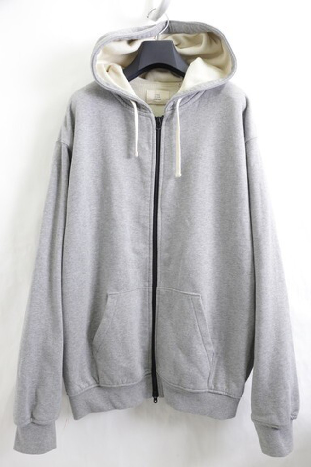 FOG FEAR OF GOD THERMAL ZIP UP HOODIE GREY LARGE 55JF6845