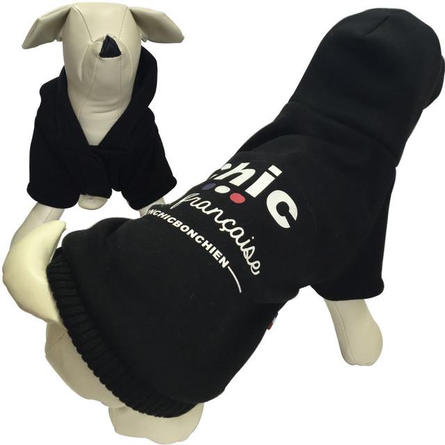 1。Bonchic Bonchien【正規輸入】犬 服 パーカー ブラック 秋 冬物