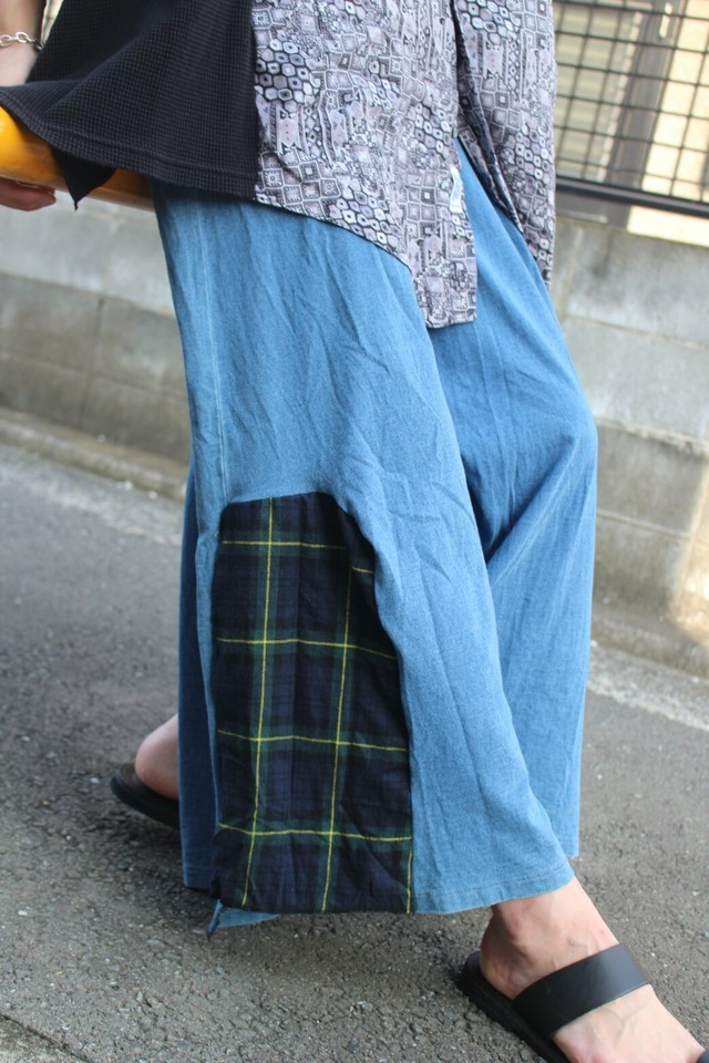 Remake Blue HAKAMA Pants