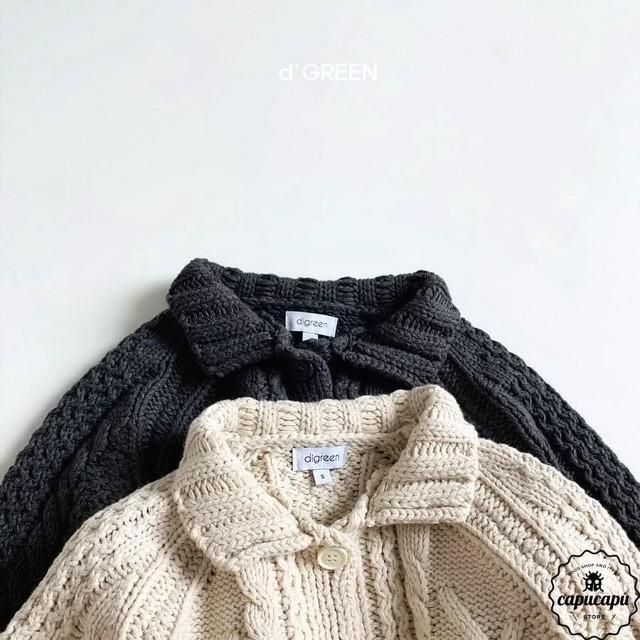 «予約» knit cardigan 2colors ケーブルニットカーディガン