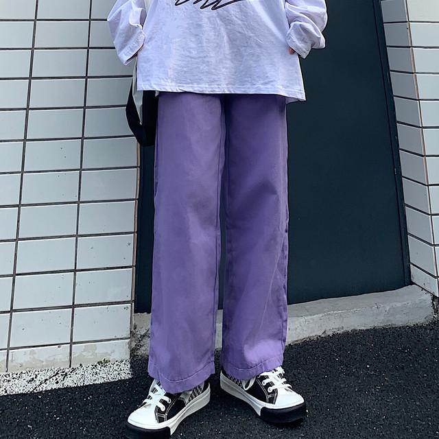 wide leg cotton casual pants PD2390