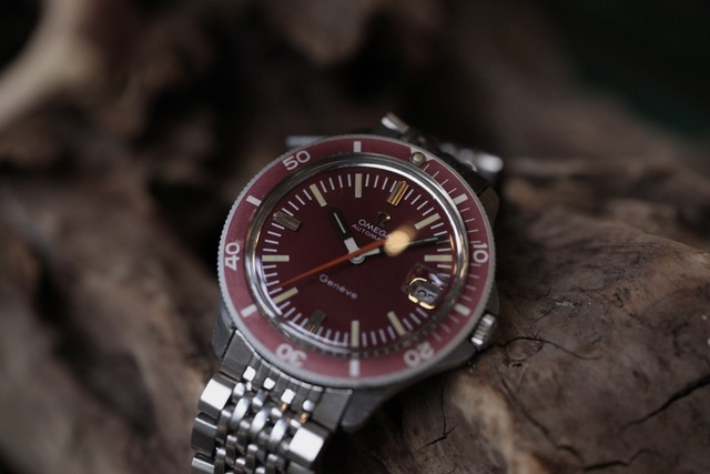 """【OMEGA】 1970's ADMIRALTY GENEVE REDベゼル """"NON ANCHOR""""  / Vintagewatch / Cal.565 / Automatic"""