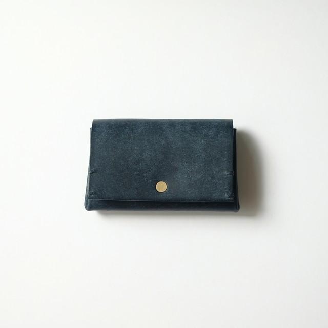 bellowsfold wallet - navy - プエブロ