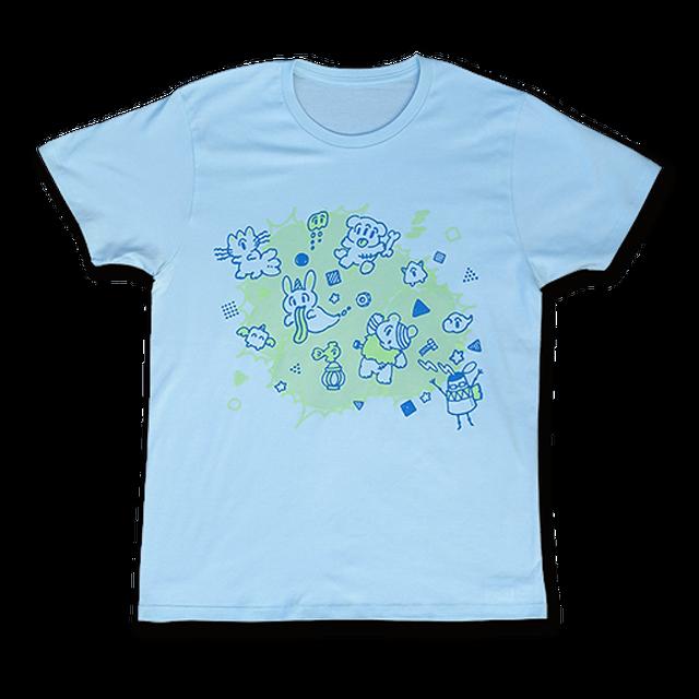 sasakure.UK 「アタマ★ビックリ」Tシャツ(メンズ/シャーベットブルー) - メイン画像