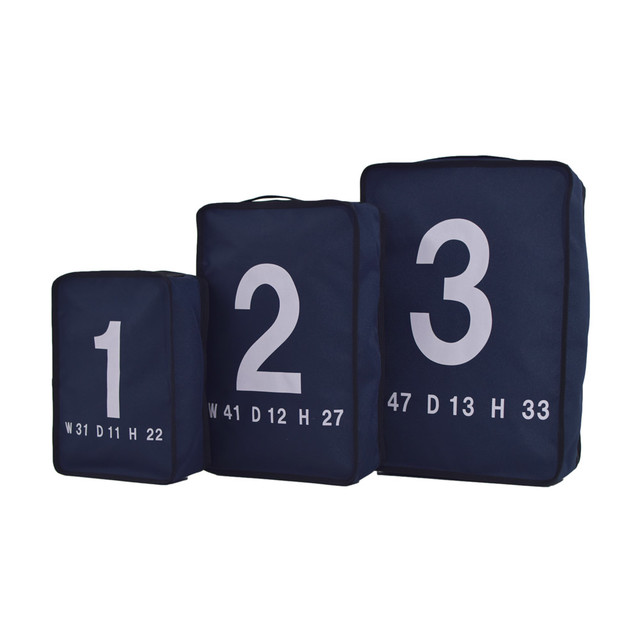 LORINZA Travel Pouch Set Navy LO-STN-01-02-03-NAVY