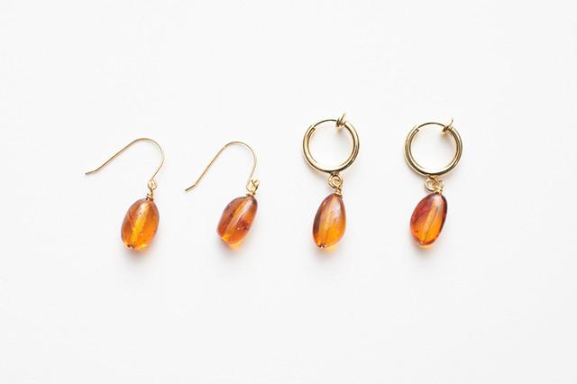 amber fook & earring
