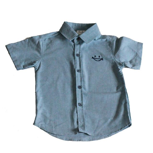 キッズ スマイルデニムシャツ made in Thailand 100%Cotton
